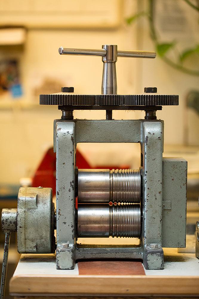 Jewelry fabrication tool at Marc Howard Custom Jewelry Design, Santa Fe, NM