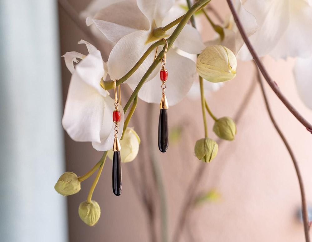Photo of custom designed earrings by Marc Howard Custom Jewelry Design in Santa Fe, NM
