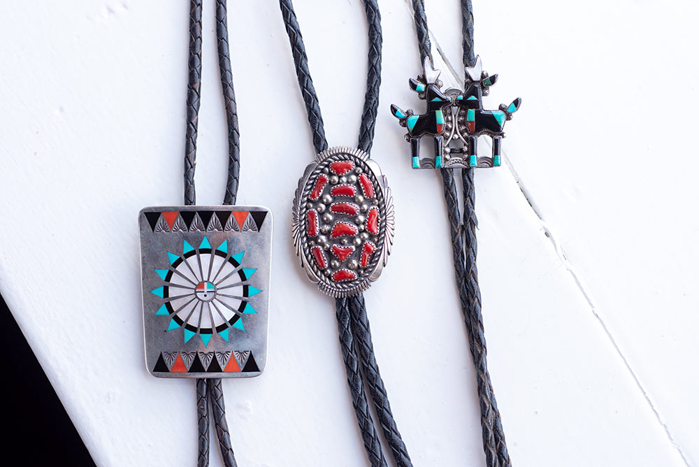 Native American antique bolos for sale at Marc Howard Custom Jewelry Design in Santa Fe, NM