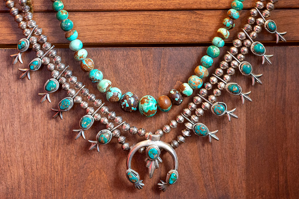 Traditional Native American antique necklaces for sale at Marc Howard Custom Jewelry Design in Santa Fe, NM