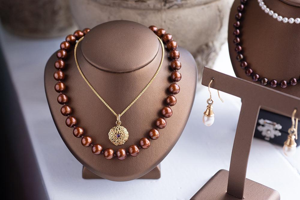 Photo of custom designed necklaces at Marc Howard Custom Jewelry Design