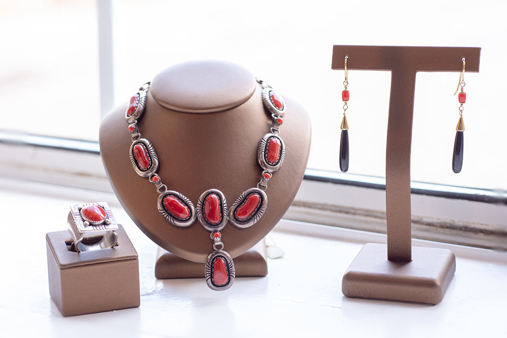 Southwestern traditional jewelry for sale at Marc Howard Custom Jewelry Design in Santa Fe, NM