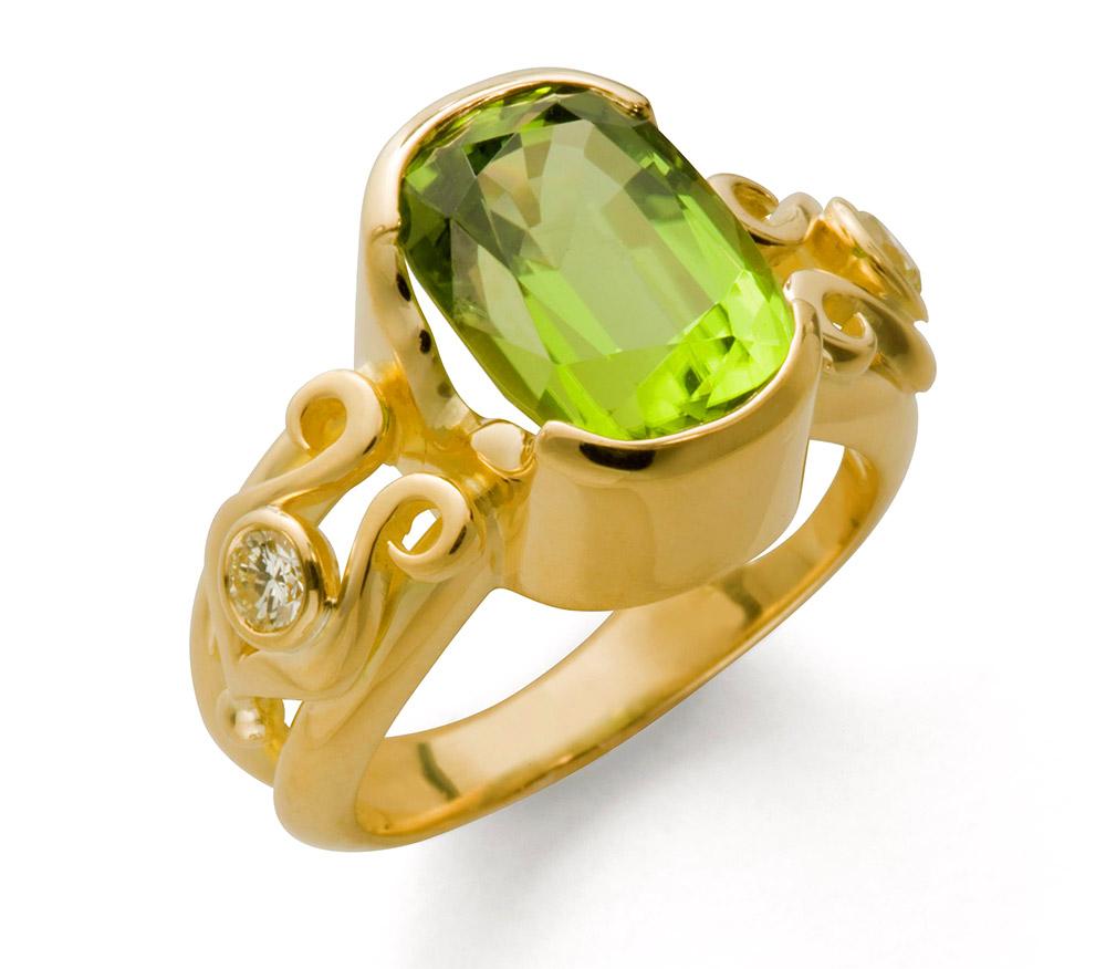 Photo of custom designed ring by Marc Howard Custom Jewelry Design