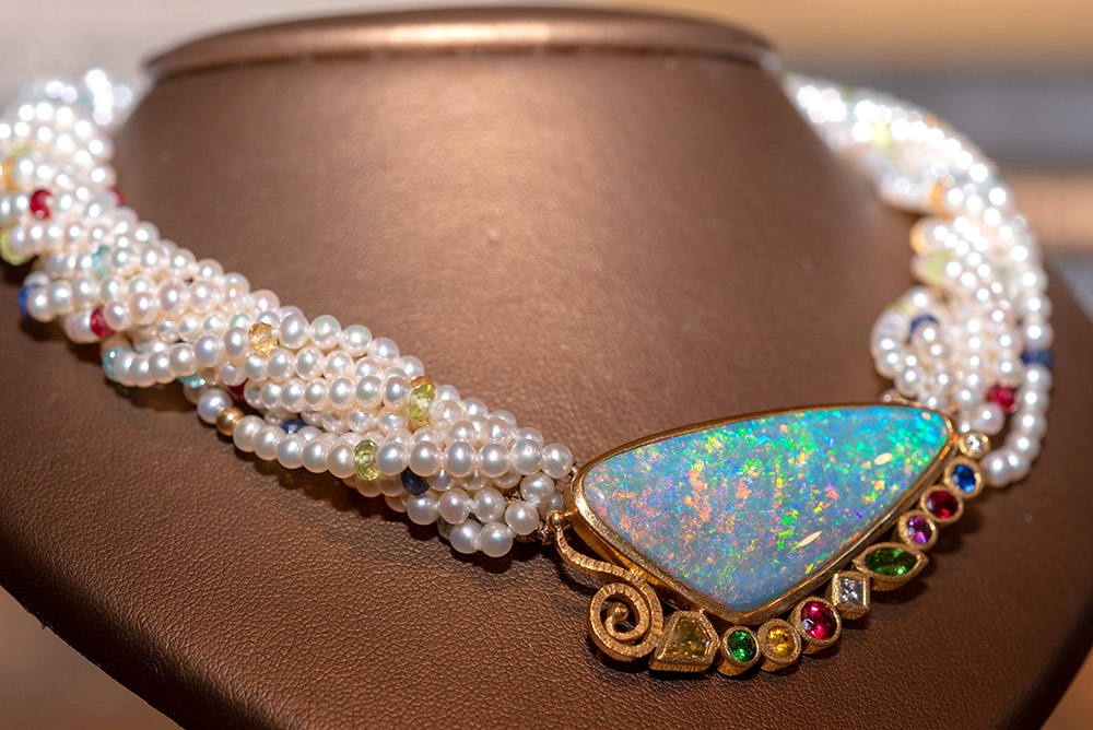 Pendant and pearl necklace by Marc Howard Custom Jewelry Design in Santa Fe, NM