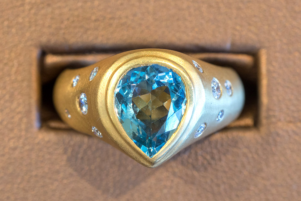 Custom designed ring by Marc Howard Custom Jewelry Design in Santa Fe, NM