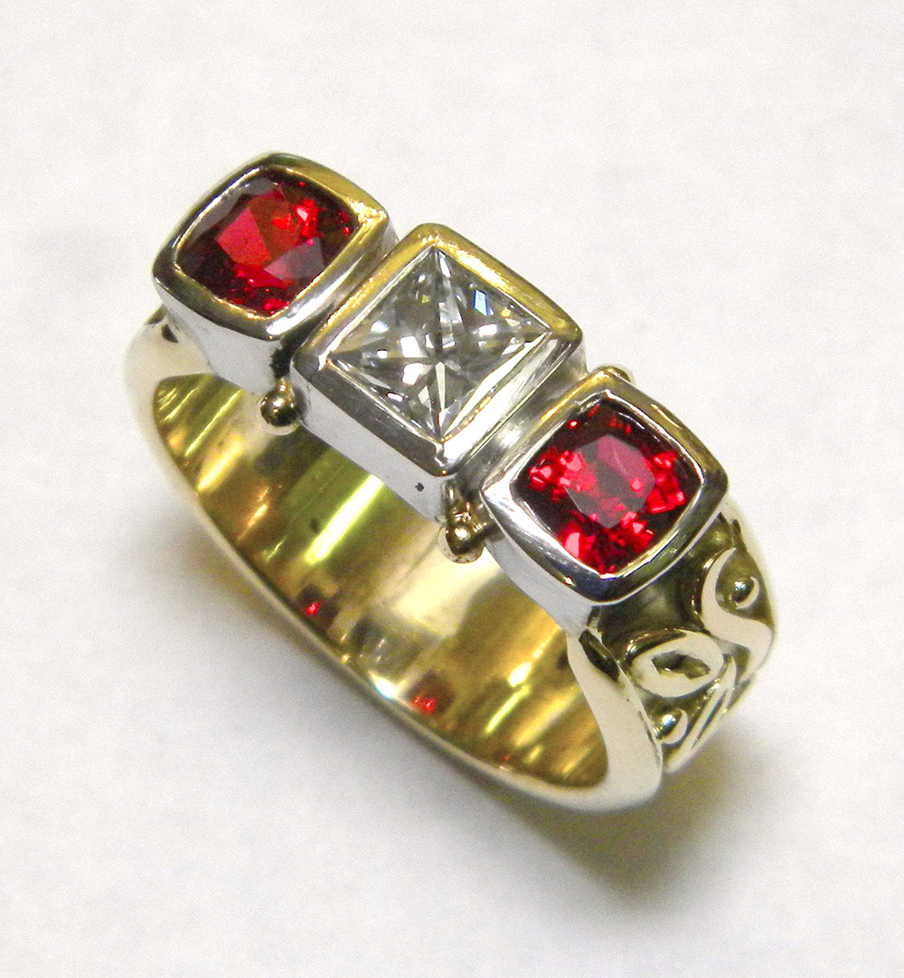 Photo of custom designed ring by Marc Howard Custom Jewelry Design